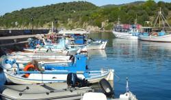 Hafen Lesbos Griechenland